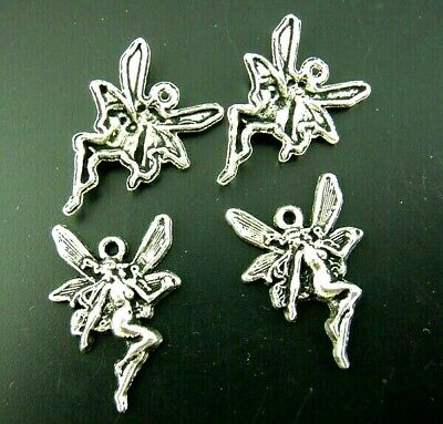 Fairy Charms Tibetan Silver Pendant Pack Of 40 • 4£