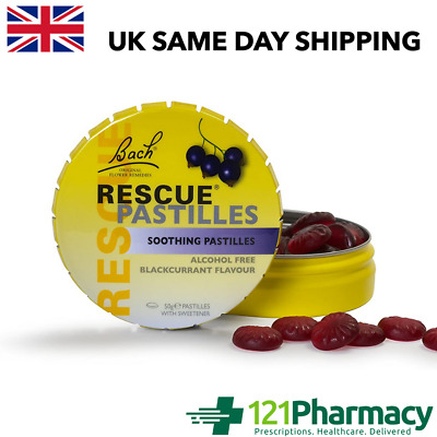 Bach RESCUE Remedy Soothing Pastilles Blackcurrant - 50g Soothing Flower Essence • 5.95£