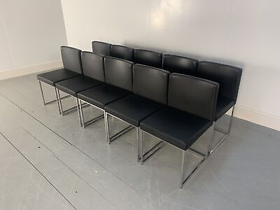 £2900 • Buy RRP £6000 - Superb Suite Of 10 Calligaris  Even Plus  Dining Chairs In Black ...