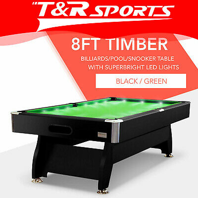 AU671.99 • Buy 8ft Green Timber Mdf Luxury Pool Snooker Billiard Table With Led Free Delivery