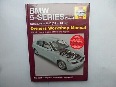 BMW 5-Series Diesel Service And Repair Manual: 2003 To 2010 By HAYNES 4901.. • 12.75£