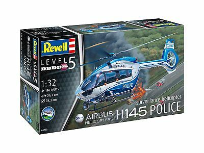 Airbus H145 Police Suveillance Helicopt, Revell Helicopter Kit 1:3 2, 04980 • 37.90£
