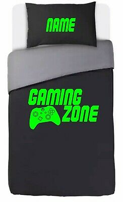 Personalised XBOX Controller Inspired Single Bed Duvet Cover GAMING ZONE Bedroom • 24.99£