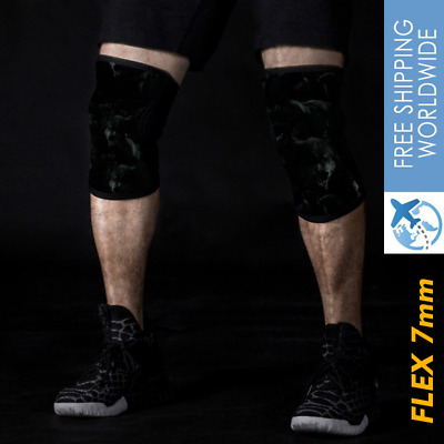 AU45 • Buy 7mm Knee Sleeves Pair Squats Compression Sbd Brace Power Lifting Gym Sports .