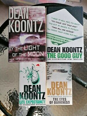 Dean Koontz Horror Bundle X 4 The Good Guy, Life Expectancy From The Light Of... • 0.99£