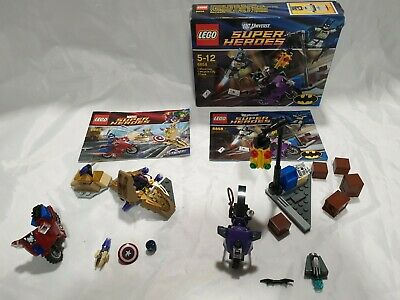 LEGO (6865) Captain America's Avenging Cycle (6858) Catwoman Catcycle City Chase • 29.99£