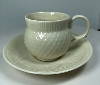 £36.55 • Buy Belleek Pottery Thistle Cream Cup And Saucer Ireland