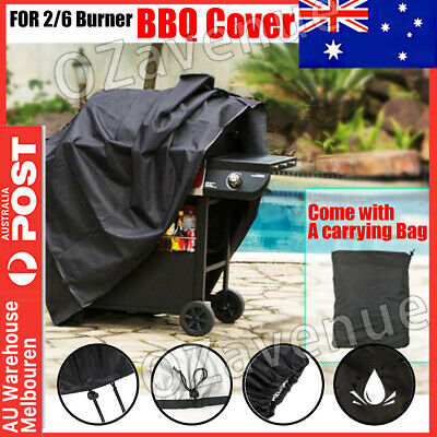 AU20.95 • Buy BBQ Cover 2/6 Burner Waterproof Outdoor Gas Charcoal Barbecue Grill Protector AU