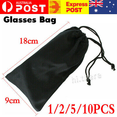 AU4.99 • Buy 1/2/5/10PCS Soft Cloth Pouch Bag For Sunglasses Eyeglasses Glasses Case Storage