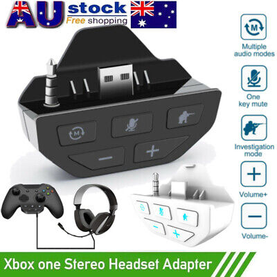 AU31.29 • Buy Stereo Headset Adapter Mic Headphone Converter For Microsoft Xbox One Controller