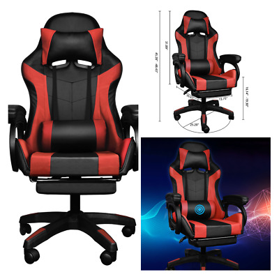AU125.87 • Buy Office Chair Gaming Racing PU Multiple Massage Machine Executive Footrest Seat