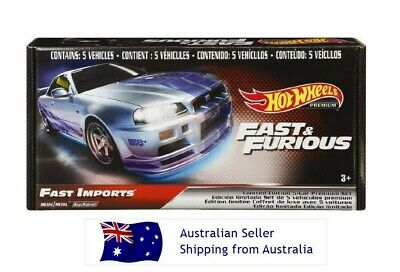 AU79.90 • Buy Hot Wheels Fast And Furious Limited Edition 5-car Premium Set - Fast Imports