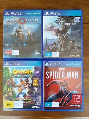 AU43 • Buy Spider-Man, God Of War, N. Sane Trilogy & Monster Hunter: World (Sony Set - PS4)