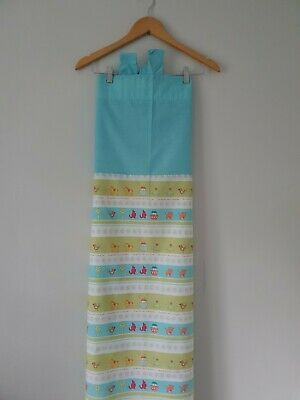 Baby Tab Top Curtains W45  Drop 55  Blue/Green Mothercare <FF3715 • 8.99£