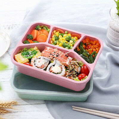 5 Compartments Lunch Box Adults Kids Food Container Set Bento Storage Lunch Box • 7.98£
