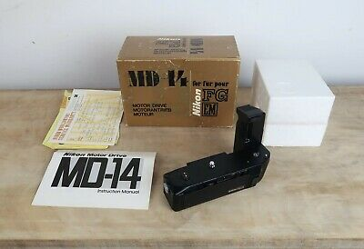 Nikon Motor Drive MD-14 For Nikon EM, FG And FG20 With Instructions And Box • 50£