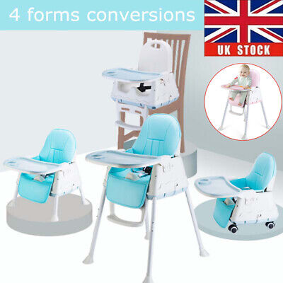 Adjustable Portable 4 In 1 Highchair Baby High Chair Infant Feeding Seat Table  • 31£