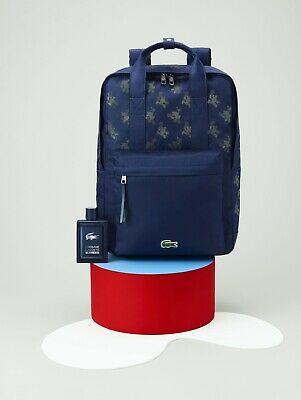 Lacoste Mickey Mouse Print Backpack In Navy Blue NEW RRP £169 • 69.99£