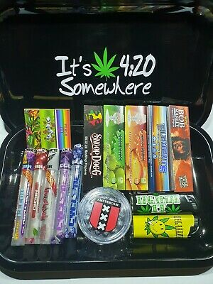 Rolling Tray Gift Set Juicy Mix Papers Grinder  • 13.99£