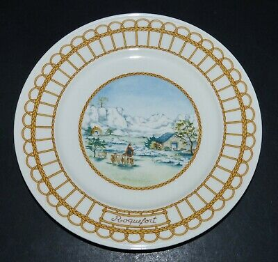 Villeroy & Boch Porcelain China ROQUEFORT 8  PLATE Corbeille Blue Cheese France  • 5£
