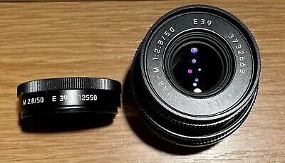Leica Elmar-M 50mm F2.8 Collapsible Lens & Hood.  Superb ! • 599£