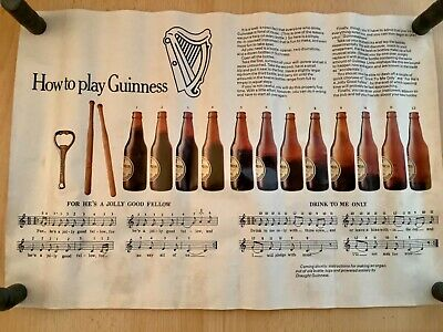 £299.99 • Buy Rare How To Play Guinness Advertisement Poster.