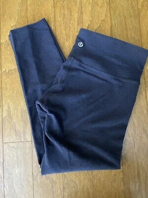 $ CDN25.51 • Buy LULULEMON ~ Charcoal Grey Crop Leggings ~ Size 8