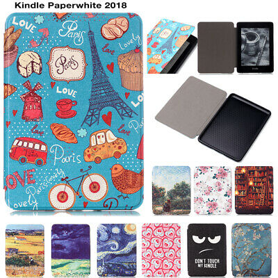 AU18.99 • Buy New Painted Leather Case Cover For New Kindle Paperwhite 2018 6  10th Gen 2018