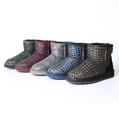 AU41.99 • Buy NOCK UGG Women Short Classic Glitter Ankle Boot Premium Australia Sheepskin Wool