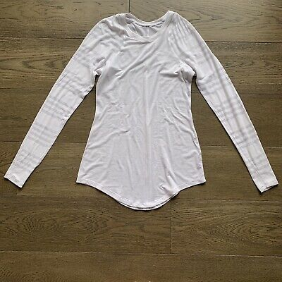 $ CDN34.45 • Buy Lululemon White Sheer Long Sleeve Size 4? 6? Small