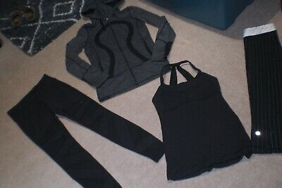 $ CDN105 • Buy  Lot Of RARE Lululemon Tights, Crops, In Stride Jacket And Tank Sz 6