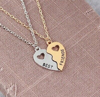 AU7.93 • Buy 2PC Best Friend Necklace Love Heart Pendant Women Gift For BFF Birthday Xmas