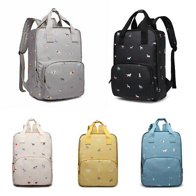 Dogs In Jumpers Print Laptop Backpack Notebook Rucksack Travel School Bag • 16.99£