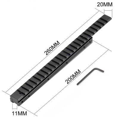 £14.86 • Buy New 260mm Dovetail Extend Weaver Scope Mount Picatinny Rail Adapter 11mm To 20mm