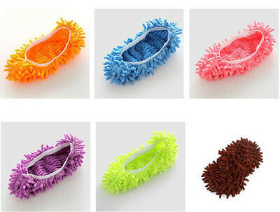 Pair Durable Microfibre Shoe Sock Slippers Mop Dusters Cleaning Floor Polishers • 3.98£