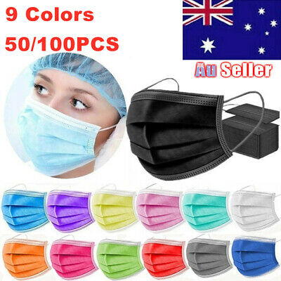 AU44.88 • Buy Face Masks Disposable N95 Mask Filter Protective Mouth 3 Layer Dust FDA✔ CE✔