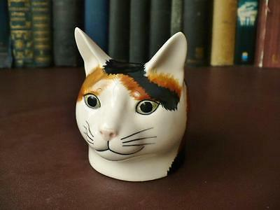 £19.99 • Buy   Cat Head Egg Cup - Tabby Cat Egg Cup- Quail Pottery