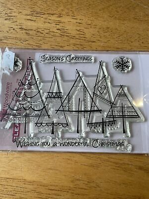 Woodware Clear Stamps Christmas Theme • 2£