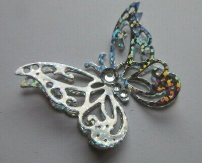 20 Silver Holographic Die Cut 3d  Butterflies Toppers All Colours Available • 2.50£