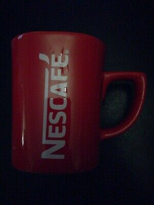NESCAFE Large Red Coffee Cup / Mug Square Shaped BRAND NEW Collectable • 7.99£