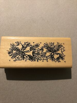 £5 • Buy Christmas Holly Wooden Stamp