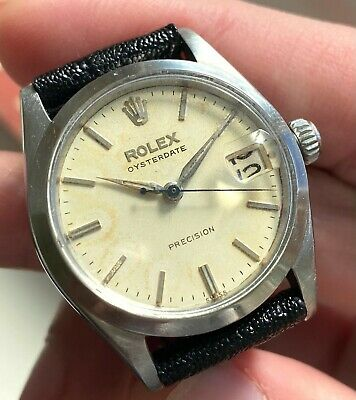 $ CDN2414.13 • Buy Vintage Rolex Oysterdate Precision Manual Wind 6466 31mm Date Steel Case Watch