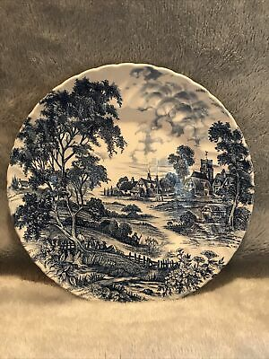 "Ridgway Ironstone Staffordshire England Blue & White Plate ""Meadowsweet"" 9 5/8"" • 3.50£"