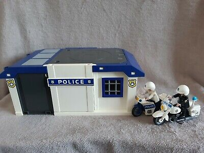 Playmobil Take Along Police Station Motor Bikes & Figures 5917 • 8£