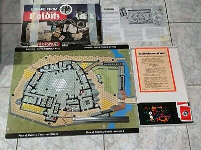Vintage 1970s 1980s Escape From Colditz Board Game 76x 56cm Strategy War WW2WWII • 10£