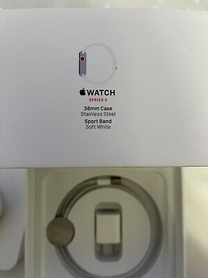 $ CDN189.82 • Buy Apple Watch Series 3 38mm Stainless Steel Case With Soft White Sport Band...