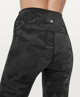 $ CDN45.78 • Buy NICE🍀LULULEMON 6 Wunder Under High Rise Roll Down Incognito Camo Black Grey