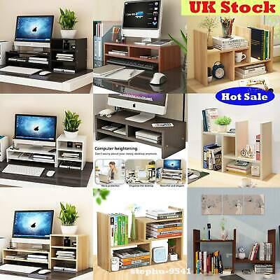 3Tier Computer Desktop Monitor Stand Book Shelves TV Display Screen Riser Stand • 25.87£
