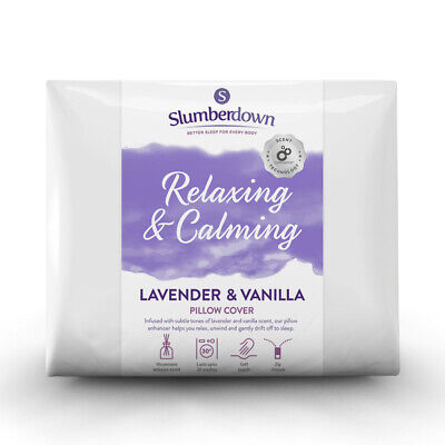 Slumberdown Relaxing Lavender & Vanilla Pillow Protector 2 Pack - RRP £12.99 • 7.99£