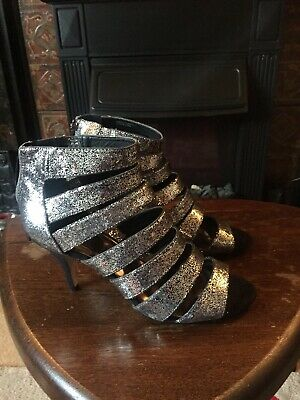 Ladies Pewter/silver Glitter Shoes Size 8 New • 3.50£
